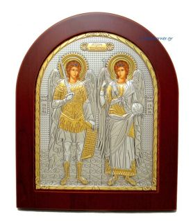 Archangel Michael & Gabriel (Gold Decoration)