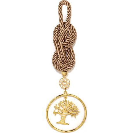 Γούρι με Επίχρυσο Δέντρο Ζωής με Χαραγμένες Ευχές