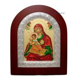 Holy Virgin Mary of Corfu with Red Purple