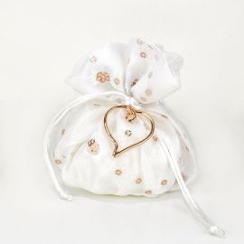 Wedding Bomboniere with Rose Gold-Plated Heart