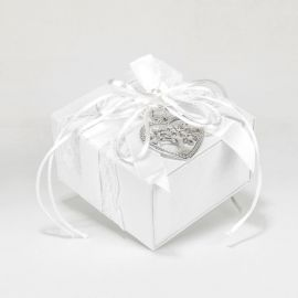 Wedding Bomboniere with silver-Plated Heart