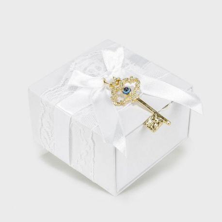 Μπομπονιέρα Γάμου με Επίχρυσο Κλειδί