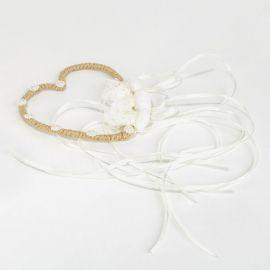 Μπομπονιέρα Γάμου Καρδούλα Λινάτσα - Δαντέλα