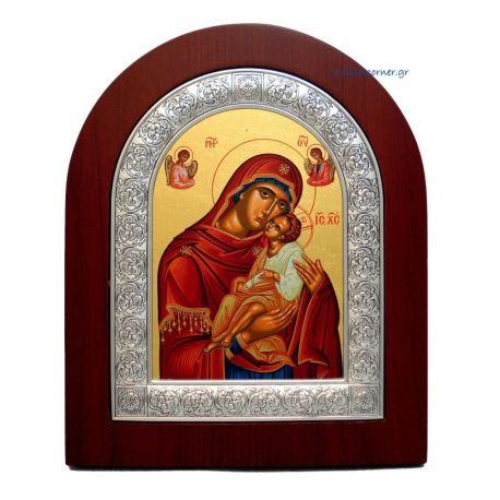 Holy Virgin Mary Kissing Lovingly Hagiography