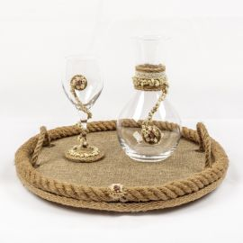 Wedding Set BURLAP FLOWER