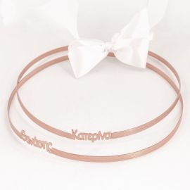 Rose Gold-Plated Wedding Crowns with NAMES
