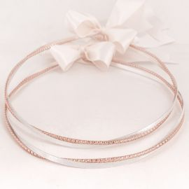 Ασημένια Στέφανα Γάμου DIAMOND RING ROSE GOLD