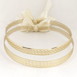 Handmade Wedding Crowns MEANDER GOLD