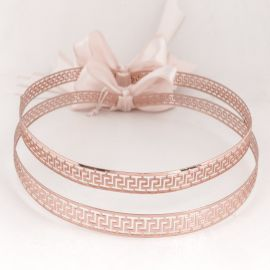 Handmade Wedding Crowns MEANDER ROSE GOLD