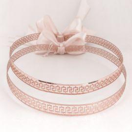 Handmade Wedding Crowns MEANDER ROSE GOLD
