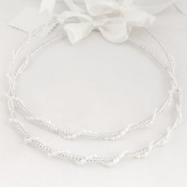 Silver Wedding Crowns PERLA