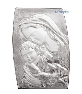 Madonna & Child Silver Icon