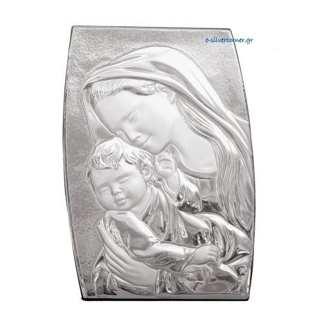 Ασημένια Εικόνα Madonna Πλαγιαστή