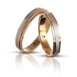 Δίχρωμη Βέρα Γάμου Πολυγωνική ( Μεμονωμένο Τεμάχιο)