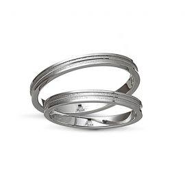 Βέρα Γάμου Ματ με Λουστρέ Άκρες ( Μεμονωμένο Τεμάχιο)