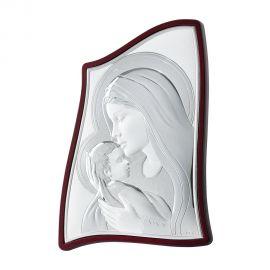 Ασημένια Εικόνα της Παναγίας σε Πρωτότυπο Σχήμα