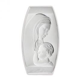 Ασημένια Εικόνα της Παναγίας (Λευκή Πλάτη)