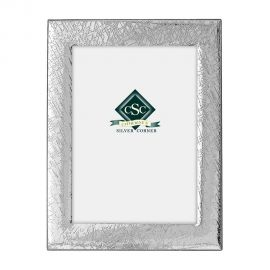 Silver Textured Picture Frame