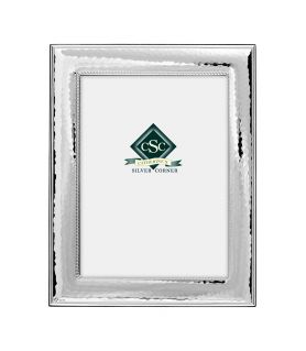 Silver Hammered Picture Frame