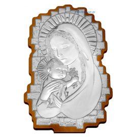 Ασημένια Εικόνα της Παναγίας Κυματιστή