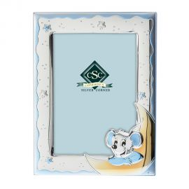 Little Mouse Silver Picture Frame in Ciel