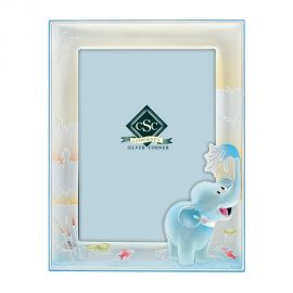 Little Elephant Silver Picture Frame in Ciel