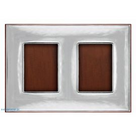 Sterling silver double photo frame - Soft hammered design