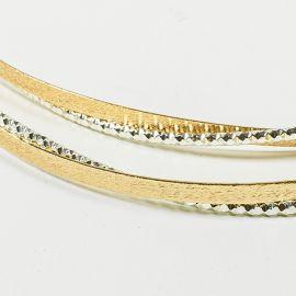 Ασημένια Στέφανα Γάμου Diamond Reverse Gold