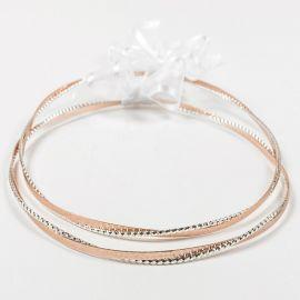 Ασημένια Στέφανα Γάμου DIAMOND REVERSE ROSE GOLD