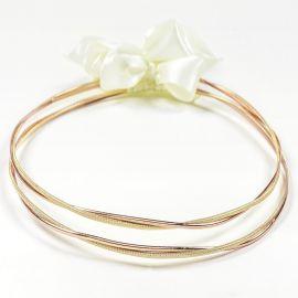 Ασημένια Στέφανα Γάμου GOLD N' ROSE