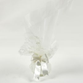 Wedding Tulle Bomboniere with Satin Ribbon and Lace