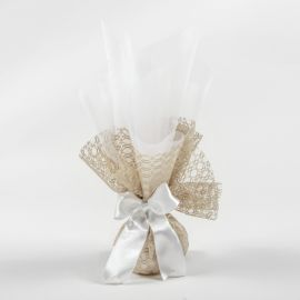 Wedding Tulle Bomboniere with chocolate Lace