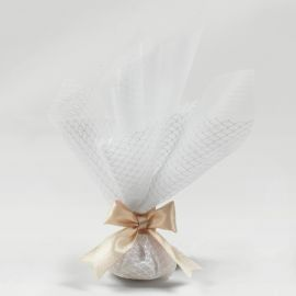 Wedding Double-Tulle Bomboniere with Satin Ribbon