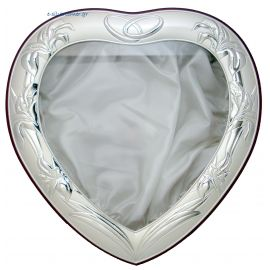 Heart-Shaped Silver Crown Case - Brown Base