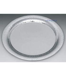 Ηammered Silver Plated Wedding Tray INOX PLATE 34,5