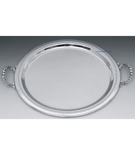 Silver plated wedding tray - Classic style handles