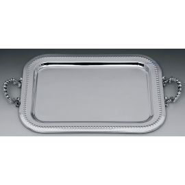 Silver Plated Wedding Tray SILVER RETRO MARBLE