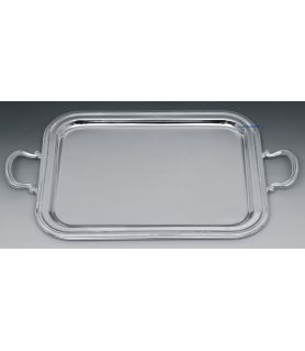 Silver plated wedding tray - Classic & delicate bead design