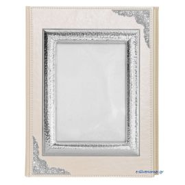 Wedding photo album with sterling silver frame 10 X 15 cm.