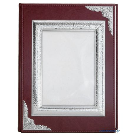Medium-Sized, Brown Leather Photo Album