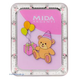Ducks Silver Picture Frame in Pink