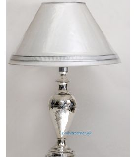 Sterling silver table lamp