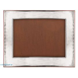 Panoramic sterling silver photo frame - Modern plain style