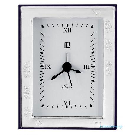 Bears Silver Baby Clock