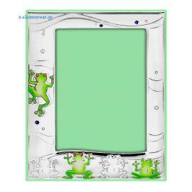 Swarovski Frogs Silver Picture Frame