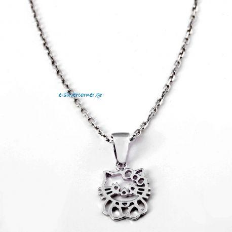 Hello Kitty Silver Pendant