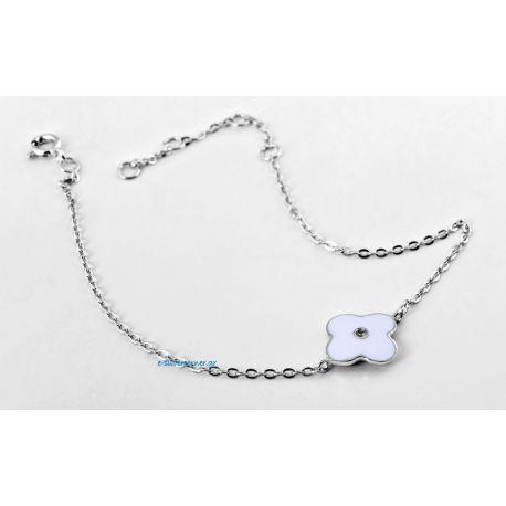 Silver Flower Bracelet