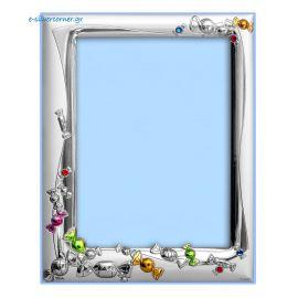 Swarovski Candies Silver Picture Frame in Ciel