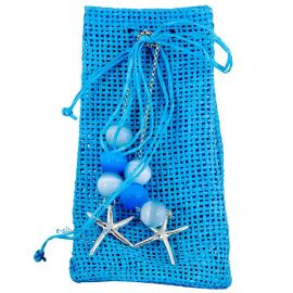 Bomboniere Bag with Worry Beads in Ciel