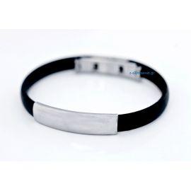Bracelet with Steel Plate